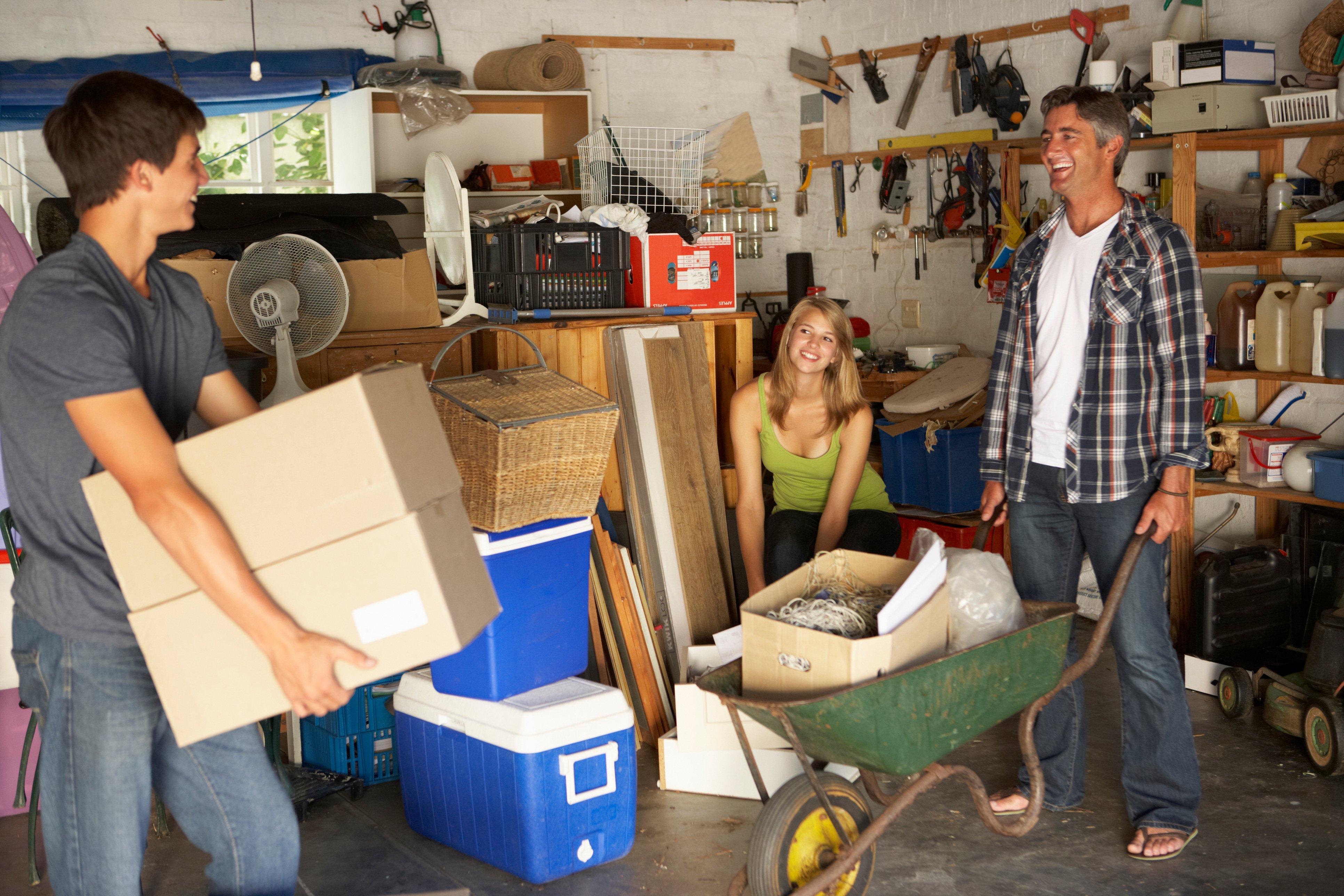de-clutering a home garage